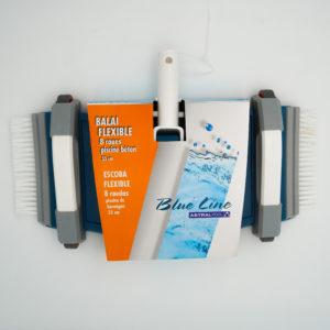BLUE LINE – Balai flexible 8 roues 35cm piscine béton